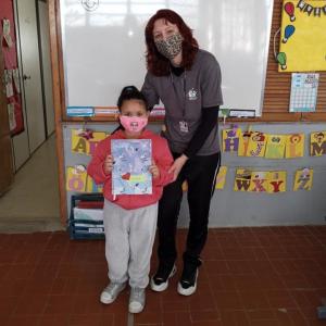 Cerimônia de troca para o caderno com linha - Professora Sabrina