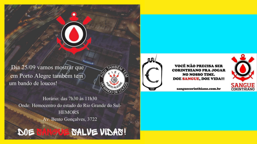 Campanha de doação - Sangue Corinthiano